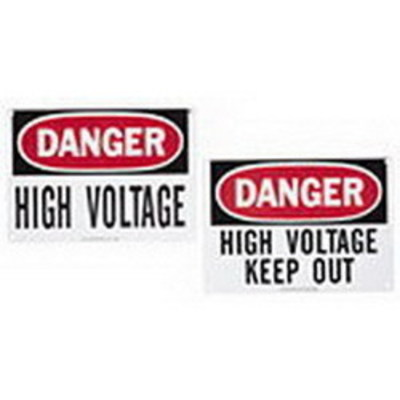 Ideal 44-881 Ideal 44-881 Self-Sticking Safety Sign; Reinforced Plastic