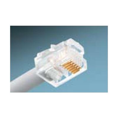 Ideal 85-345 Ideal 85-345 Category 5e RJ11 Telcom Modular Plug; 6P6C, Clear