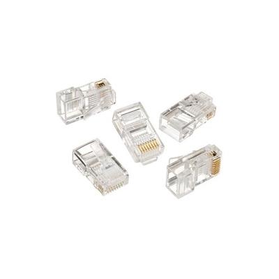 Ideal 85-346 Ideal 85-346 Category 5e RJ45 Telcom Modular Plug; 8P8C, Clear