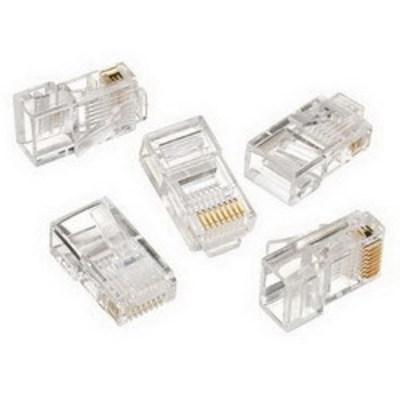 Ideal 85-396 Ideal 85-396 Category 5e RJ45 Modular Plug; 8P8C, Clear