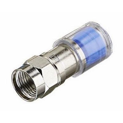 Ideal 89-045 Ideal 89-045 OmniCONN™ RG-6 Quad Compression F-Type Connector; 50/Jar