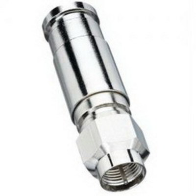 Ideal 92-212 Ideal 92-212 RG-11 Plenum Quad Compression F-Connector; Nickel-Plated, Brass, 10/Card