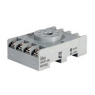 Idec SR2P-06 Idec SR2P-06 SR Series Relay Socket; 10 Amp, 300 Volt, 2-Pole, DIN Rail Snap/Surface Mount