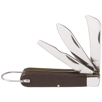 Klein Tools 15506 Klein Tools 1550-6 Pocket Knife; 2-3/8 and 2-1/2 Inch Blade Length, Carbon Steel Spearpoint Blade