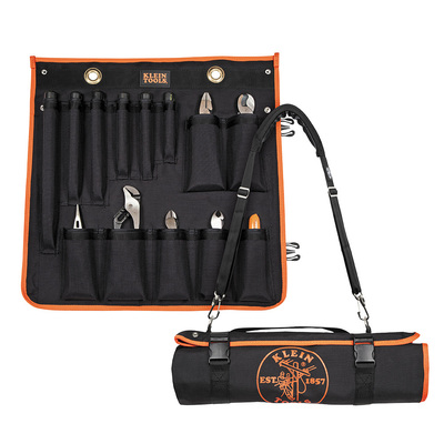 Klein Tools 33525SC Klein Tools 33525SC Utility Insulated Tool Kit with Roll-Up Case; 13 Pieces