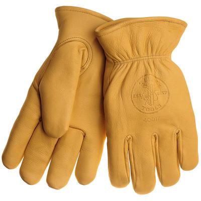 Klein Tools 40017 Klein Tools 40017 Deerskin Work Gloves; Large, Brown