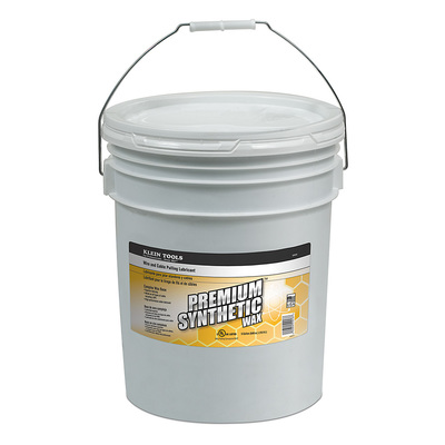 Klein Tools 51013 Klein Tools 51013 Premium Synthetic Wax® High Performance Wire and Cable Pulling Lubricant; 5 gal, Bucket, Light Yellow