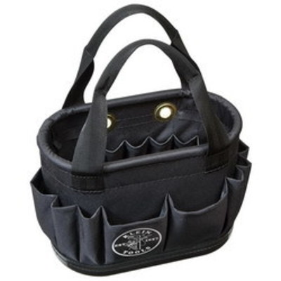 Klein Tools 5144BHB14OS Klein Tools 5144BHB14OS Hard-Body Aerial Bucket; 29 Pocket, Molded Polypropylene, Black