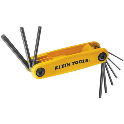 Klein Tools 70575 Klein Tools 70575 Grip-It® Hex-Key Wrench Set; 0.050 Inch, 1/16 Inch, 5/64 Inch, 3/32 Inch, 7/64 Inch, 1/8 Inch, 9/64 Inch, 5/32 Inch, 3/16 Inch, 9 Inch Overall Length, Heat-Treated Alloy Steel