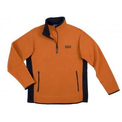 Klein Tools 96611ORG-3XL Klein Tools 96611ORG-3XL Mens Fleece Sweatshirt Pullover; 3X-Large, Polyester, 2 Pockets, Orange
