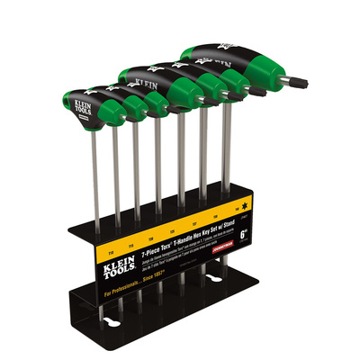 Klein Tools JTH67T Klein Tools JTH67T Torx® Journeyman™ Hex-Key Set with Stand; Treated Steel Key, Metal Stand, 7 Pieces