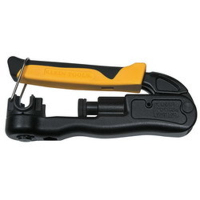 Klein Tools VDV211063 Klein Tools VDV211-063 Lateral Compression Crimper; Steel, 6.250 Inch Length, Yellow/Black