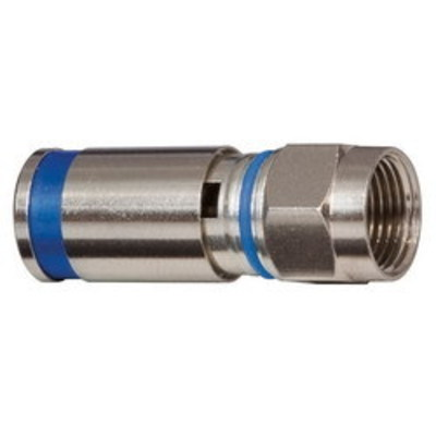 Klein Tools VDV812624 Klein Tools VDV812-624 RG-6/6Q Universal Male F-Type Compression Connector; Metal, 50/Pack