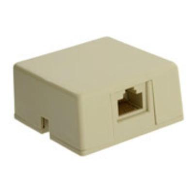 Leviton 40278-SBI Leviton 40278-SBI eXtreme® Modular RJ31X Telephone Box Jack With Shorting Bar; 8P8C, Screw Terminal, High-Impact Plastic, Ivory