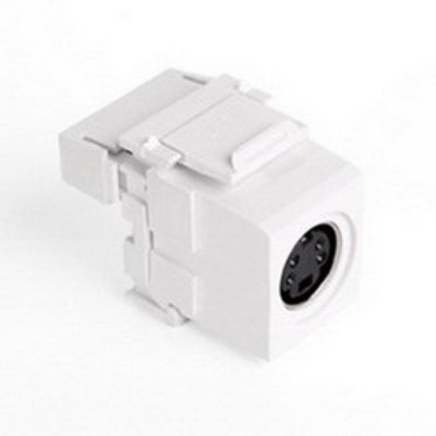 Leviton 40734-SVW Leviton 40734-SVW S-Video 110-Termination Connector; White