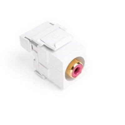 Leviton 40735-RRW Leviton 40735-RRW Termination QuickPort® Connector; Surface/Flush, Plastic, White Body, Red Insert