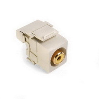Leviton 40735-RYI Leviton 40735-RYI QuickPort® RCA 110 Punchdown Category 5 Connector; Snap-In/Surface/Flush Mount, Ivory/Yellow