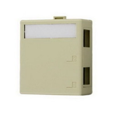 Leviton 40822-BI Leviton 40822-BI QuickPort® Surface Mount Box; Surface Mount, Ivory, (2) Port