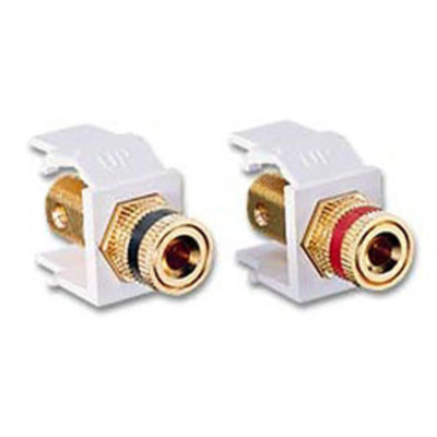 Leviton 40833-W Leviton 40833-W QuickPort Snap-In Binding Post, Pair