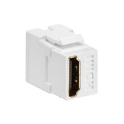Leviton 40834-T Leviton 40834-T Female-To-Female HDMI Feedthrough Connector; ABS Plastic, Light Almond