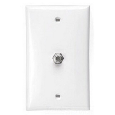 Leviton 40981-A Leviton 40981-A 1-Gang Twist On Wallplate; (1) F-Type Connector, Almond