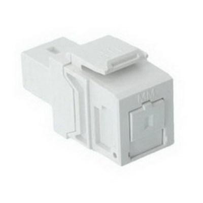 Leviton 41085-MWC Leviton 41085-MWC QuickPort® Simplex Fiber Optic Adapter; SC, Multimode, White