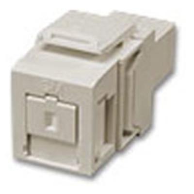 Leviton 41085-SIC Leviton 41085-SIC QuickPort® SC Series Simplex Fiber Optic Adapter; Single Mode, Multimode, Snap-In Mount, Zirconia Ceramic, Ivory