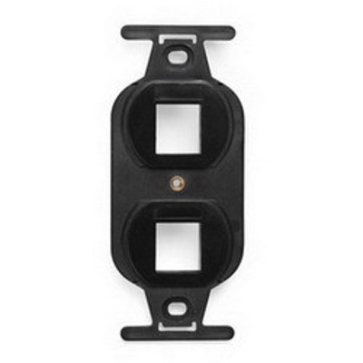 Leviton 41087-2EP Leviton 41087-2EP QuickPort® Duplex Type-106 Inserts; 1.744 Inch Length x 0.450 Inch Width x 4.100 Inch Height, Plastic, Black, Wall Mount