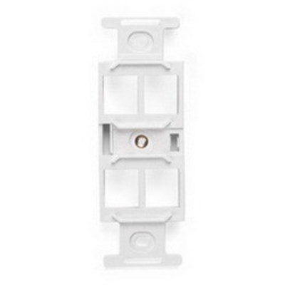 Leviton 41087-QWP Leviton 41087-QWP QuickPort® Duplex Type-106 Inserts; 1.400 Inch Length x 0.450 Inch Width x 4.100 Inch Height, Plastic, White, Wall Mount