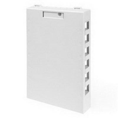 Leviton 41089-12W Leviton 41089-12W QuickPort® Box; Surface, (12) Port, High Impact Flame Retardant Plastic, White