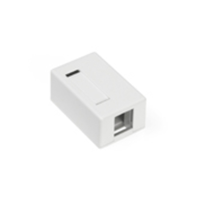 Leviton 41089-1WP Leviton 41089-1WP QuickPort® Box; Surface, (1) Port, High Impact Flame Retardant Plastic, White
