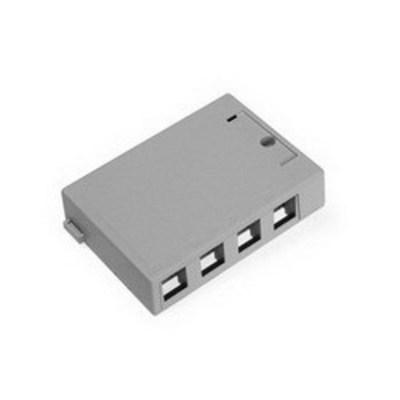 Leviton 41089-4GP Leviton 41089-4GP QuickPort® Box; Surface, (4) Port, Flame Retardant Plastic, Gray
