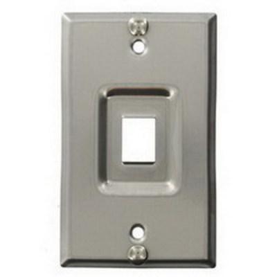 Leviton 4108W-1SP Leviton 4108W-1SP 1-Gang Wallplate; Box/Flush/Recessed, (1) Port, Keystone, 302 Stainless Steel