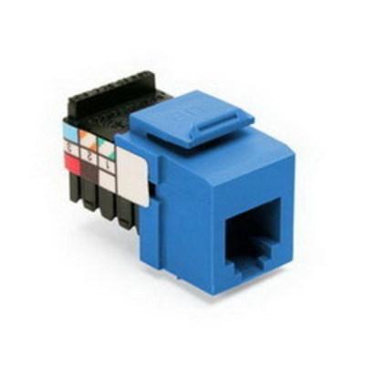 Leviton 41106-RL6 Leviton 41106-RL6 QuickPort® 110 Punchdown USOC and Voice Grade Modular Jack; 6P6C, Blue