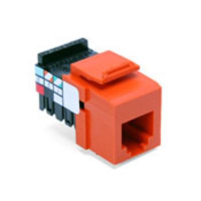 Leviton 41106-RO6 Leviton 41106-RO6 QuickPort® 110 Punchdown USOC and Voice Grade Modular Jack; 6P6C, Orange