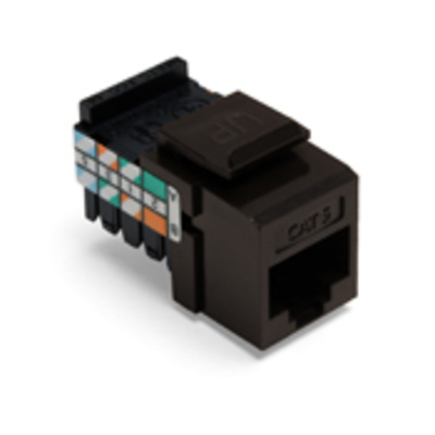 Leviton 41108-RB5 Leviton 41108-RB5 QuickPort® Category 5 RJ45 Jack; Snap-In/Surface/Flush Mount, 8P8C, Brown
