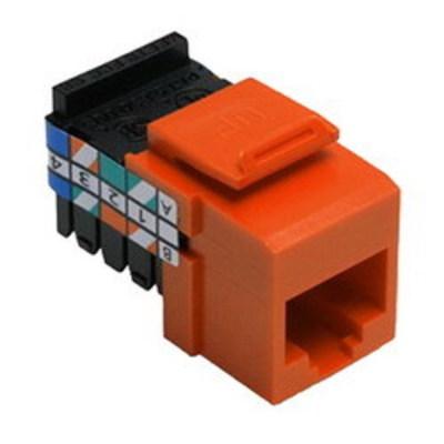 Leviton 41108-RO3 Leviton 41108-RO3 QuickPort® Category 3 UTP Jack Connector; Mated (8P8C) Front x 110 IDC, Orange