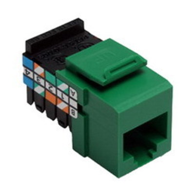 Leviton 41108-RV5 Leviton 41108-RV5 QuickPort® Category 5 UTP Jack Connector; Mated (8P8C) Front x 110 IDC, Green