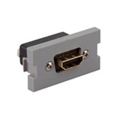 Leviton 41290-HDG Leviton 41290-HDG HDMI® Multimedia Outlet System Module; Plastic, Gray, Flush Mount