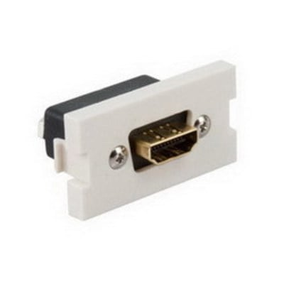 Leviton 41290-HDT Leviton 41290-HDT Feedthrough HDMI® MOS Module; Flame Retardant Plastic, Light Almond