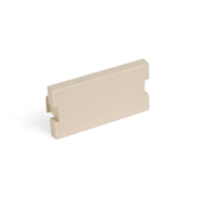 Leviton 41291-1BI Leviton 41291-1BI QuickPort® 1-Gang Blank MOS Modular Insert; Surface/Flush Mount, Plastic, Ivory