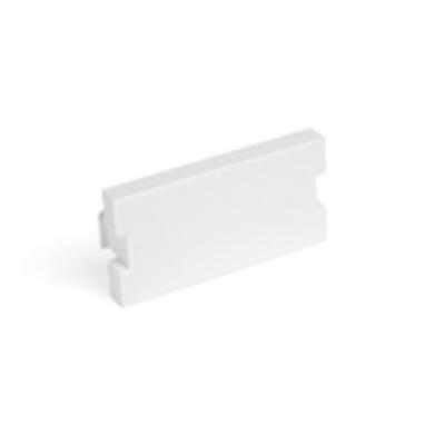 Leviton 41291-1BW Leviton 41291-1BW QuickPort® 1-Gang Blank MOS Modular Insert; Surface/Flush Mount, Plastic, White