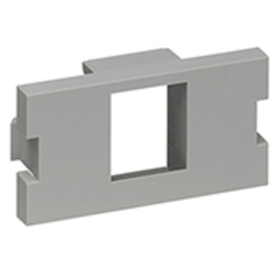 Leviton 41291-1MG Leviton 41291-1MG QuickPort® Connector Module MOS 1-Port 1 Unit High Adapter; Gray