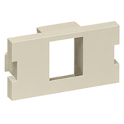 Leviton 41291-1MI Leviton 41291-1MI 1-Gang MOS Module Adapter; 1-Port, Plastic, Ivory