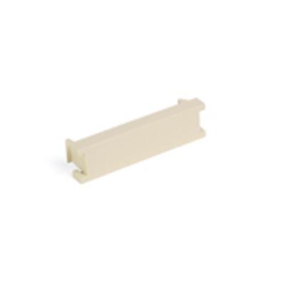 Leviton 41295-5BT Leviton 41295-5BT 1/2 Unit Blank MOS Module; 1.85 Inch Width x 0.49 Inch Height x 0.48 Inch Depth, Fire Retardant Plastic, Snaps into MOS Wallplate/Surface Mount, White