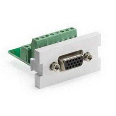 Leviton 41295-HDW Leviton 41295-HDW QuickPort® VGA HD15 MOS Module; Flame Retardant Plastic, White