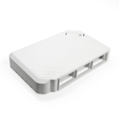 Leviton 41296-MMW Leviton 41296-MMW 2-Gang Surface Mount Multimedia Outlet System; Surface Mount, ABS, White, (6) Port