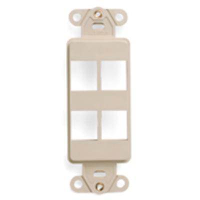 Leviton 41644-I Leviton 41644-I Multimedia Insert; Flush, (4) Port, High Impact Flame Retardant Plastic, Ivory