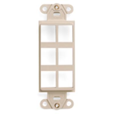 Leviton 41646-I Leviton 41646-I 1-Gang Multimedia Insert; Flush, (6) Port, High Impact Flame Retardant Plastic, Ivory