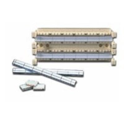 Leviton 41NB2-1F5 Leviton 41NB2-1F5 Wiring Base Kit Without Leg With 110 C5E Clip; 100 Pairs, Plastic, Black